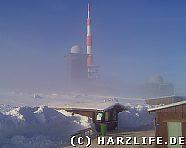 Brockengipfel mit Nebel