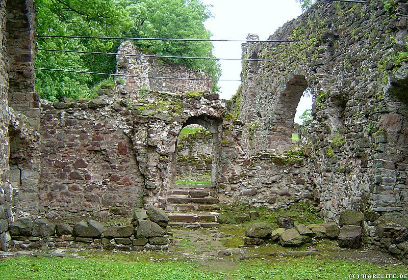 Die vermutlichen Überreste der Burgkapelle