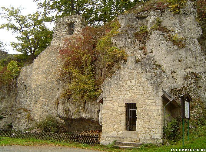 Das Brunnenhaus der Burg Scharzfels