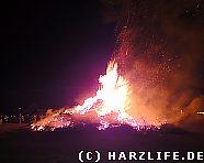 Das brennende Osterfeuer