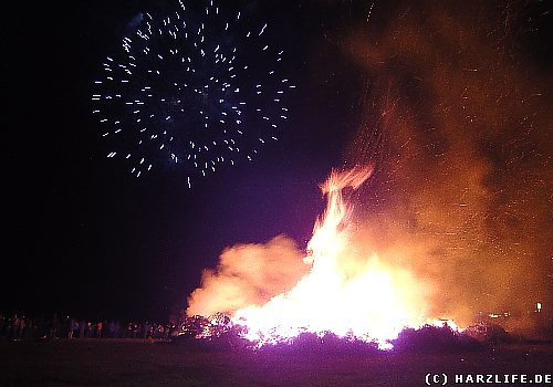 Osterfeuer in Stecklenberg - Harz