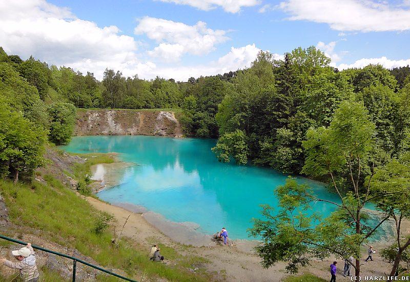 Der Blaue See ist ein beliebtes Ausflugsziel
