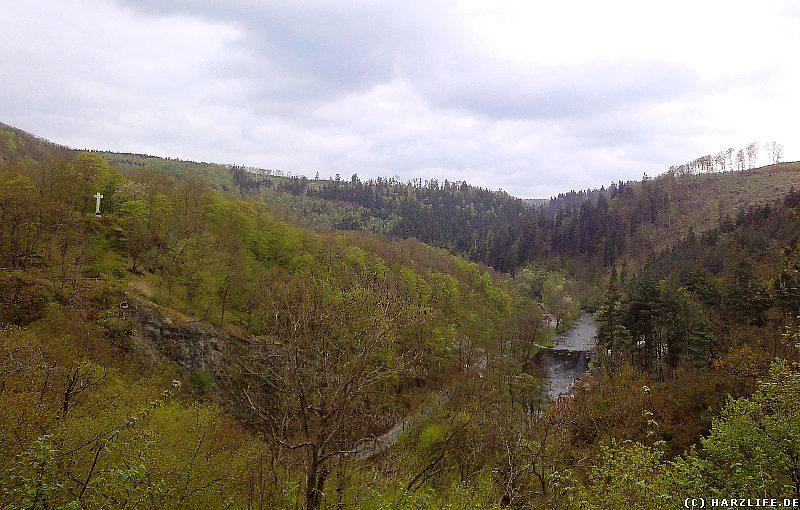 Blick vom Aussichtspunkt Krügerslust ins Bodetal