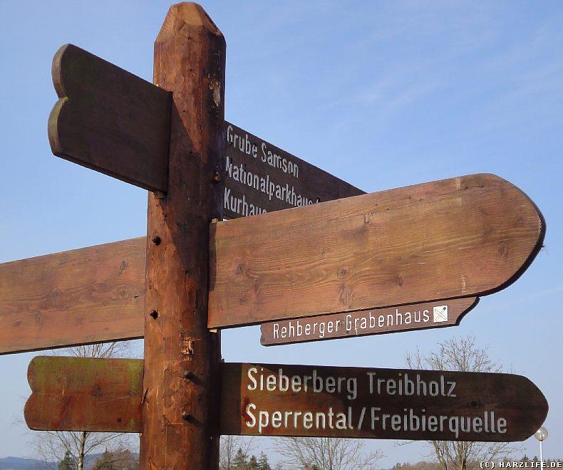 St. Andreasberg - Wegweiser zur Freibierquelle