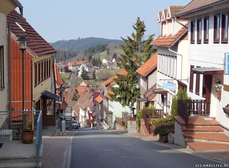Die steilste Straße im Harz in St. Andreasberg