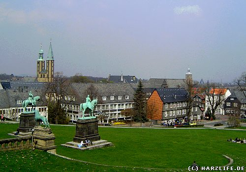 Goslar - View in towards the Old Town