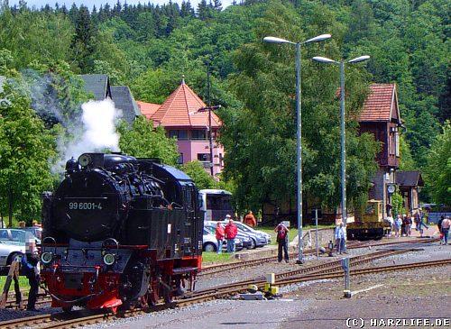 Auf dem Bahnhof in Alexisbad