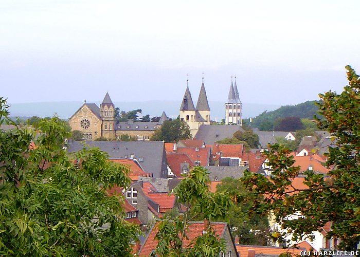 Blick vom Zwinger auf die Altstadt von Goslar