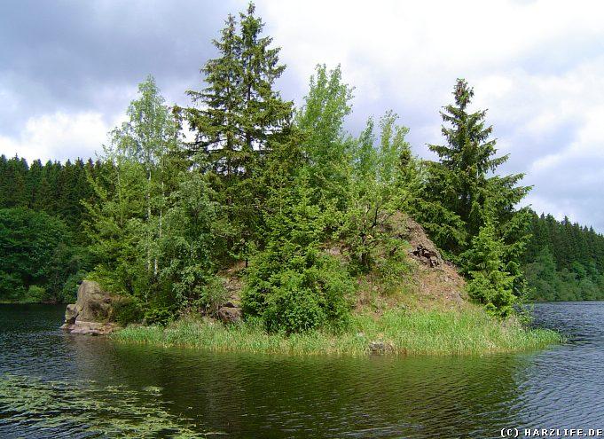 Insel im Zillierbachstausee