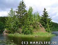 kleine Insel im Stausee