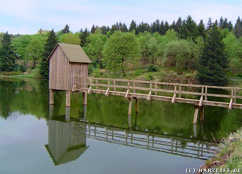 Großer Kranicher Teich mit Striegelhaus