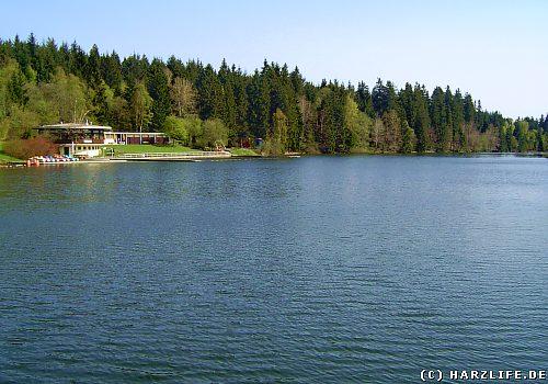 Der Kuttelbacher Teich mit Waldbad