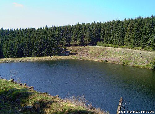 Der Obere Kellerhalsteich im Harz