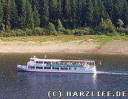 Schiff auf dem Okerstausee
