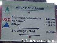 Schild Alter Bahndamm