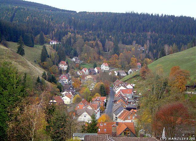 Blick vom Gallenberg auf die ehemals freie Bergstadt Wildemann