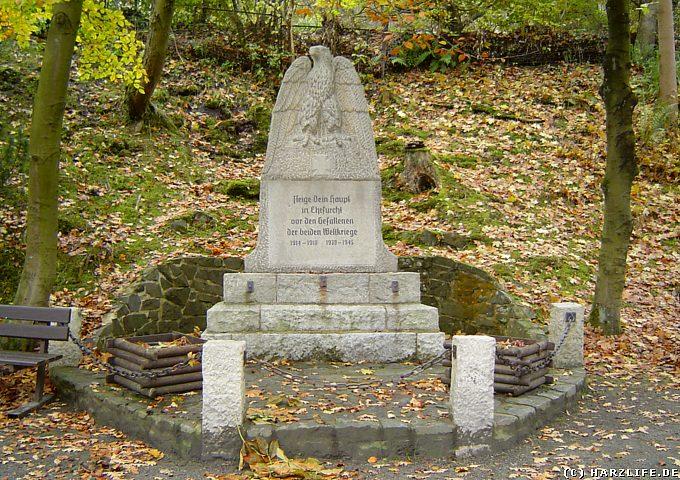 Weltkriegs-Gedenkstätte in Wildemann