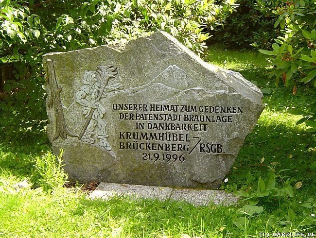 Rübezahl im Harz - Gedenkstein der Heimatgemeinschaft Krummhübel-Brückenberg im Kurpark von Braunlage