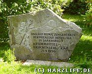 Gedenkstein im Kurpark