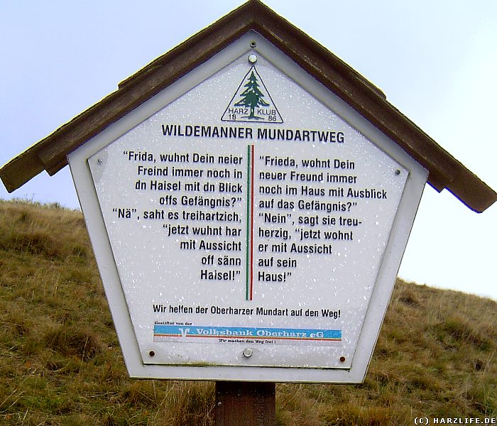 Der Wildemanner Mundartweg - Brauchtumspflege Oberharzer Mundart