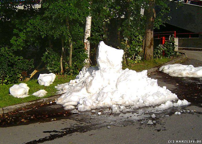 Ein Schneeberg im Hochsommer in Braunlage