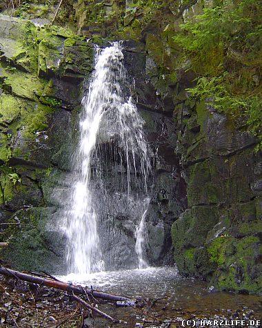 Der Spiegeltaler Wasserfall im Spiegeltal im Oberharz