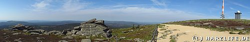 Blick vom Brocken auf den Oberharz - Sommer