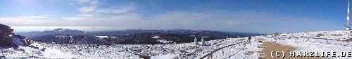 Blick vom Brocken auf den Oberharz - Winter